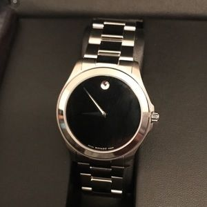 BNWT Authentic Movado Sapphire Silver Watch